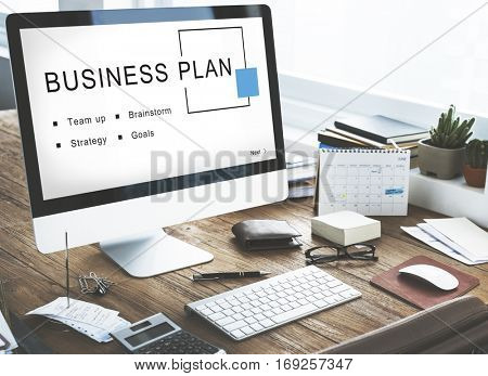 Business Plan Startup Strategy Goals Concept