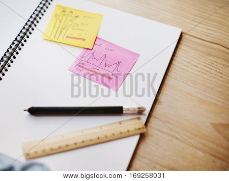Classroom Learning Book Stationary Concept