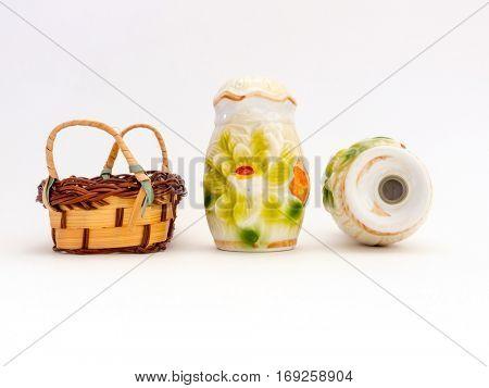 Old vintage Porcelain pepperbox, made ??in Soviet times.