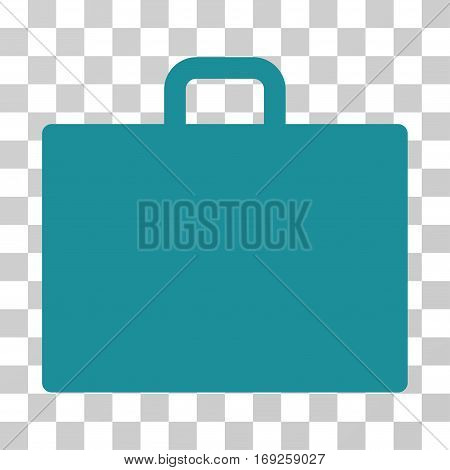 Case icon. Vector illustration style is flat iconic symbol soft blue color transparent background. Designed for web and software interfaces.