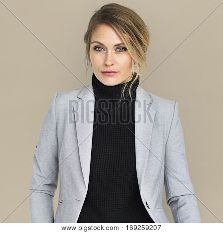 Business Woman Cool Looking Concept