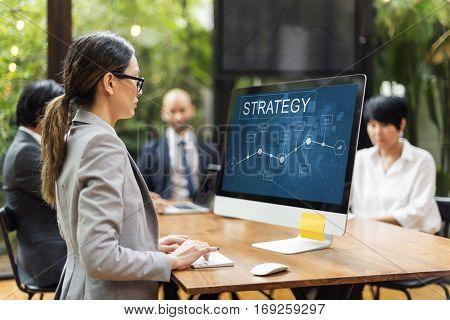 Business Strategy Corporation Enterprise Startup Concept