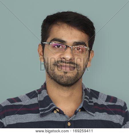 Indian Ethnicity Cheerful Confident Studio Concept