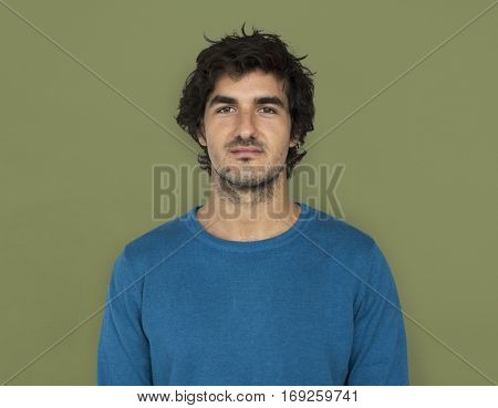 Caucasian Man Casual Confident Attractive Concept