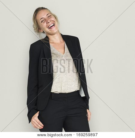 Caucasian Business Woman Smiling