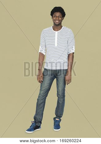 African Man Ethnicity Smiling Portrait Concept