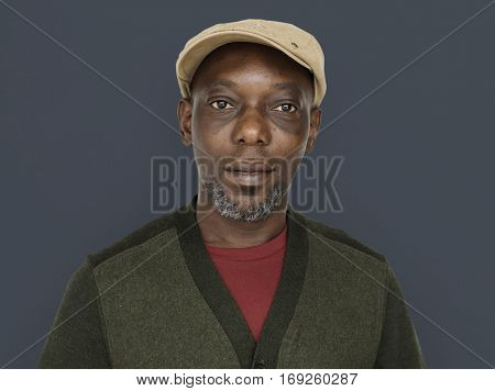African Descent Man Smile Concept