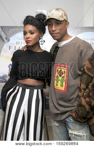LOS ANGELES - JAN 4:  Janelle Monae, Pharrell Williams at the