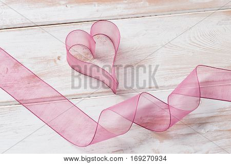 Organza Heart And Ribbon