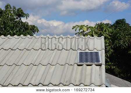 Solar Power or Solar Cell on a roof