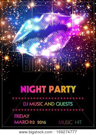 Party poster Template easy all editable