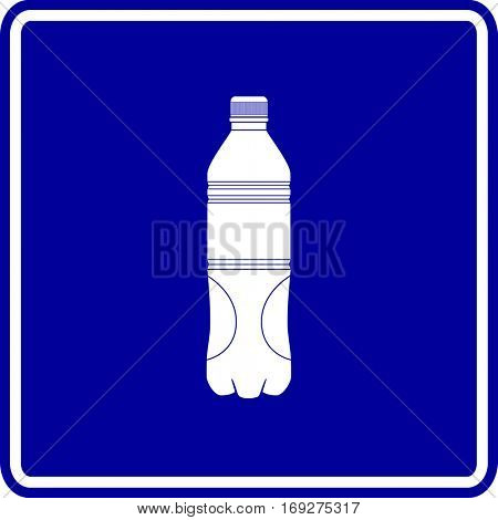 plastic bottle sign