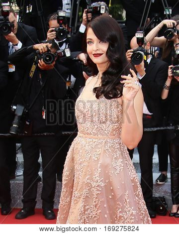 Aishwarya Rai attends 'The BFG' premier during the 69th Annual Cannes Film Festival on May 14, 2016 in Cannes.