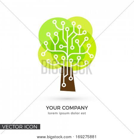 Circuit Tree , VECTOR LOGO / ICON