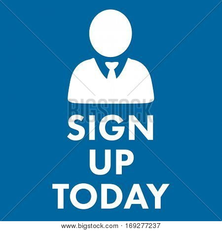 sign up today against royal blue