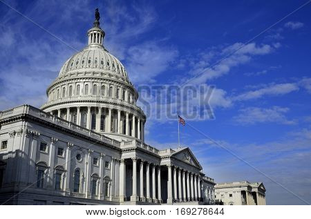 United States Capitol Building in Washington DC public building