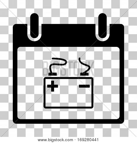 Accumulator Calendar Day icon. Vector illustration style is flat iconic symbol black color transparent background. Designed for web and software interfaces.