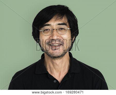 Asian Man Smiling Happy Shoot