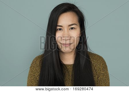 Asian Woman Confident Casual Look Concept