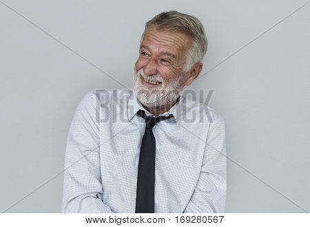 Caucasian Mature Business Man Smiling