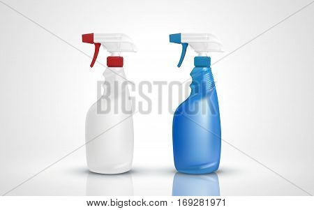 Two Plastic Spray Bottles