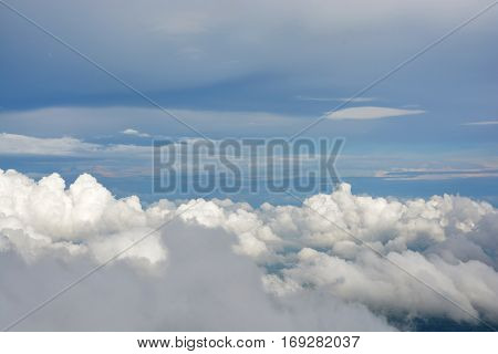 Clouds in the sky, Peaceful white clouds in the sky