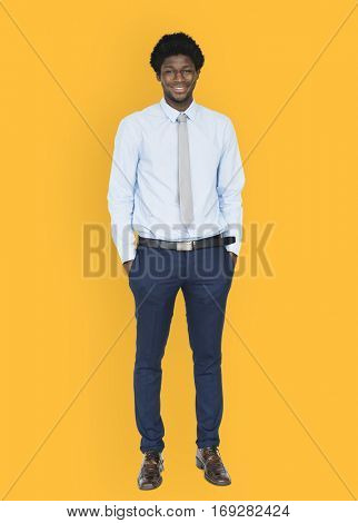 African Descent Man Full Body Concept