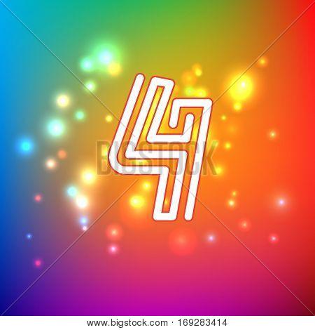 Color dynamic symbol for logo, emblem or text accent. Eps10 vector illustration