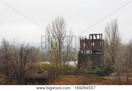 Old Dredge Ruin In Settimo Torinese