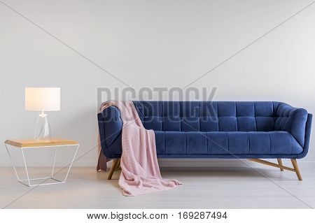 Room With Upholstered Sofa