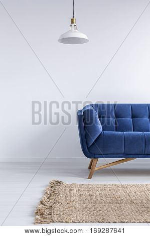Home Interior With Blue Sofa
