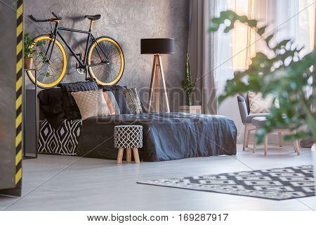 Dark Bedroom With Window