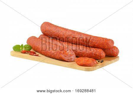 Hungarian Csabai Sausages (Csabai kolbasz) -  pork sausages with a lot of paprika