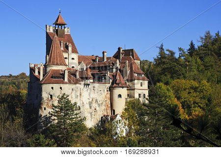 Dracula's castle in Transylvania, Bran, in summer