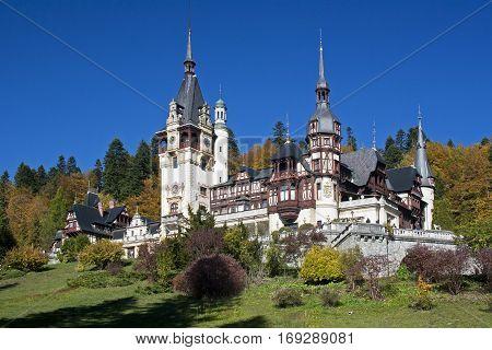 Romanian Peles castle tower royal familie heritage