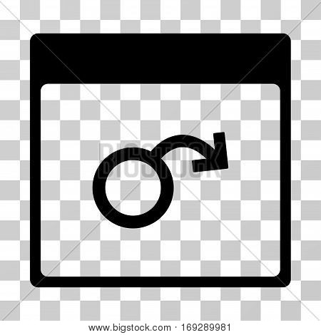 Impotence Calendar Page icon. Vector illustration style is flat iconic symbol black color transparent background. Designed for web and software interfaces.