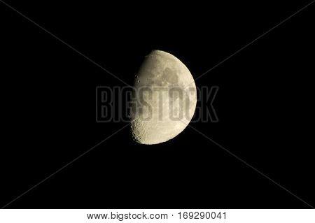 Dark Moon night in Montenegro. Sputnik of Earth