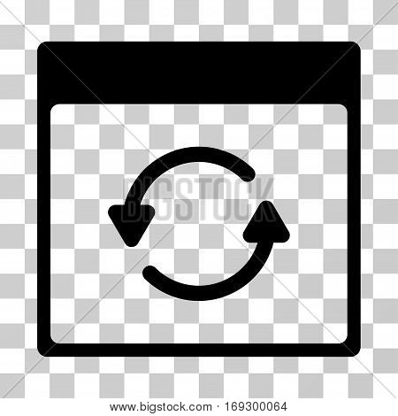 Update Calendar Page icon. Vector illustration style is flat iconic symbol black color transparent background. Designed for web and software interfaces.