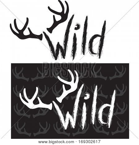 Wild.Hand drawn lettering