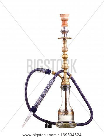 Hookah isolated on a white background. Water pipe hookah tobacco coal charcoal