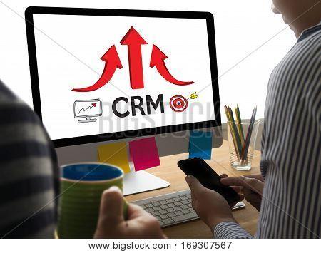 Crm Business Customer Crm Management Analysis Service Concept , Customer Relationship Management