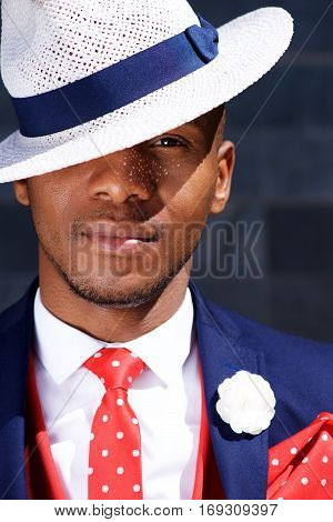 Handsome Young African Businessman In Hat.