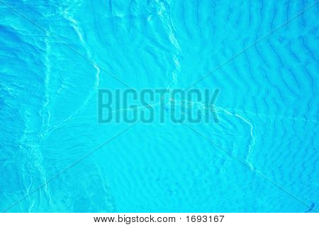 Background Abstract of Clear Brilliant Blue Water poster