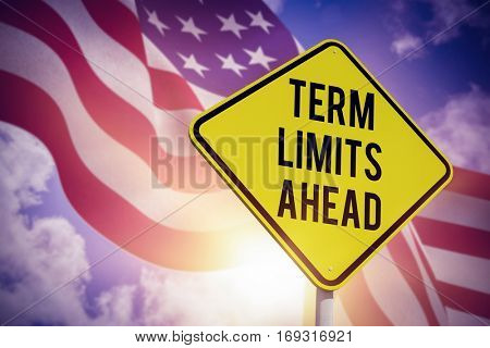 Term limits ahead against composite image of focus on usa flag