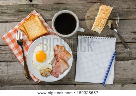 Thinking Of My Plans At Breakfast