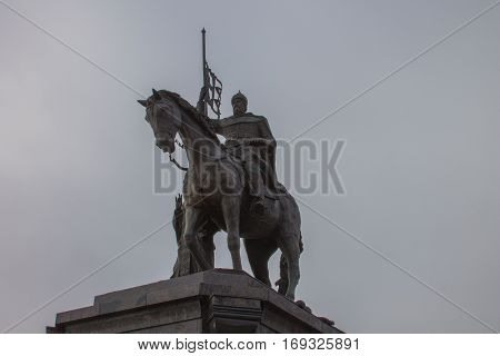 A monument to Prince horseman in Vladimir
