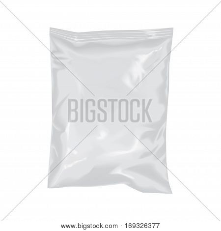 Mockup Transparent Plastic Package Foil Bag Pouch Snack Cookie Chips