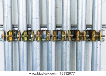 Electrical Tube in Electrical system in Thailand.background