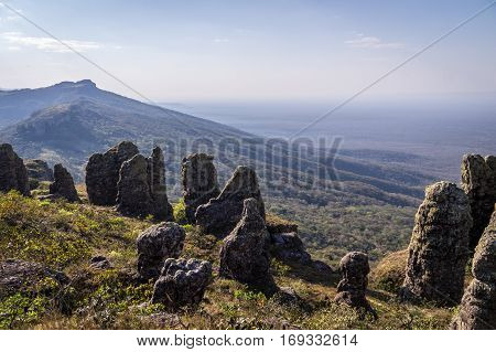 Mountain scenery near Santiago de Chiquitos, Eastern Bolivia