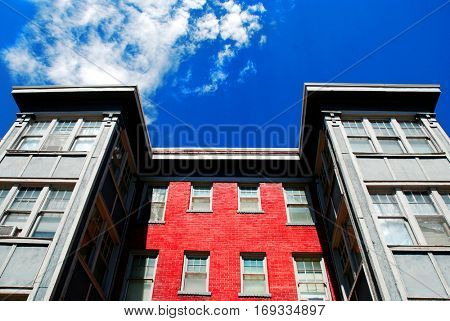 Windows and Sky of Apartment Building Rentals Lease Tenant Landlord